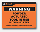 Powder Actuated & Tool Warning Signs thumbnail